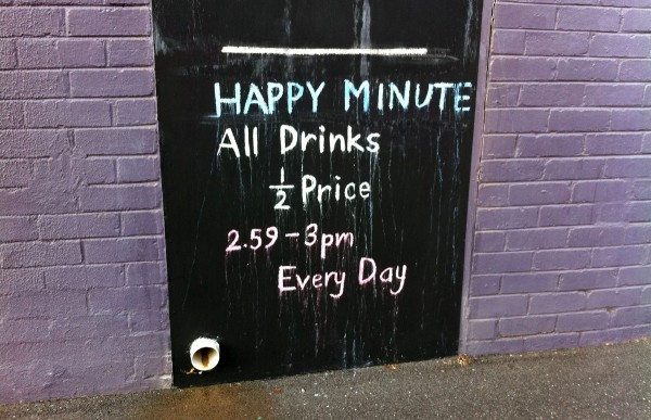 Happy Minute at the Knife Shop Restaurant & Bar
